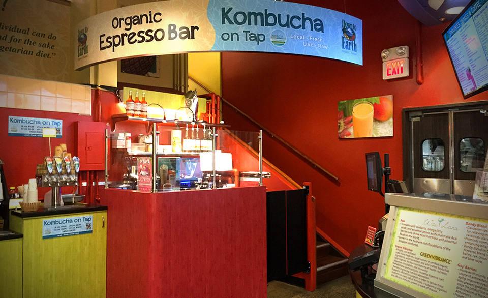 Photo: Down to Earth Organic Espresso and Kombucha Bar