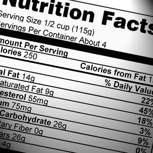 Photo: Nutrition Label