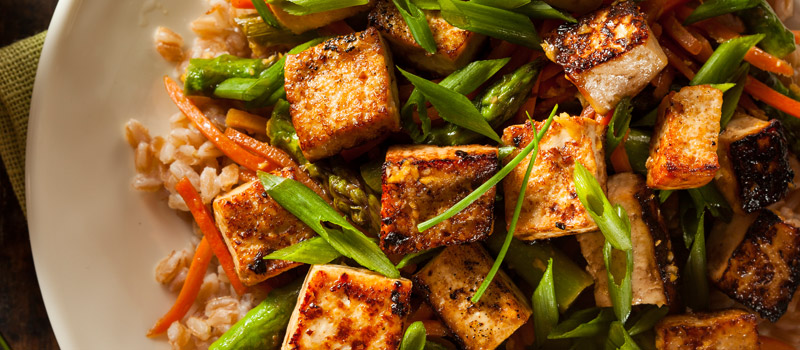 Photo: Roasted Tofu with Vegetables