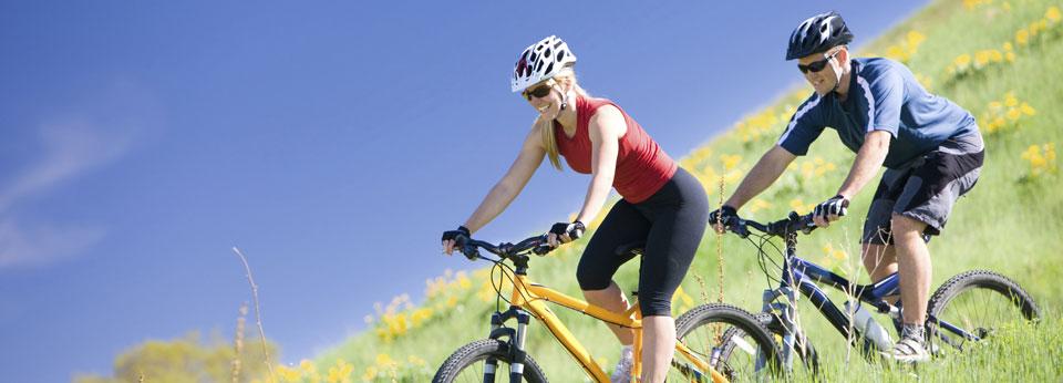 Photo: Couple on Mountain Bikes