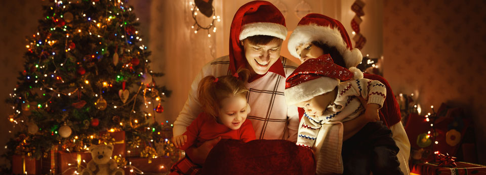 Photo: Family Opening Christmas Presents