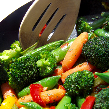 Photo: Sauteing Vegetables