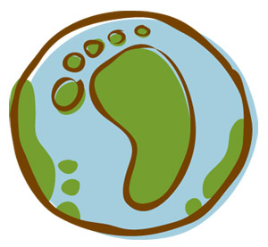 Illustration: Earth with a Green Footprint
