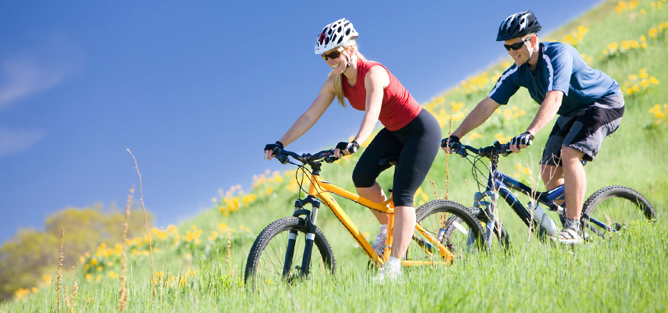 Photo: Couple on Mountain Bikes