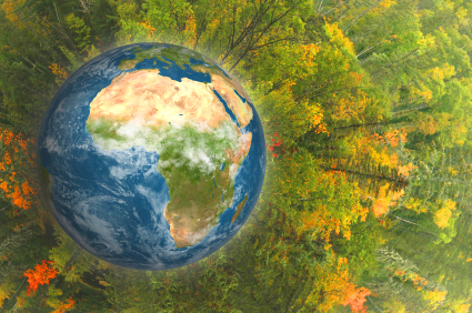 Photo Illustration: Green Earth
