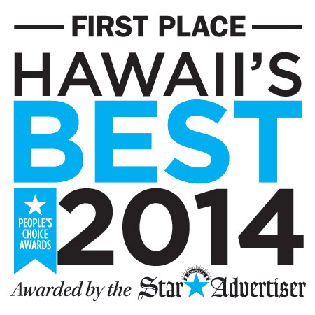 First Place: Hawaii's Best 2014, People's Choices Awards