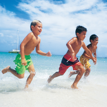 Photo: Kids Running on the Beach