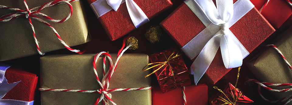 Photo: Wrapped presents