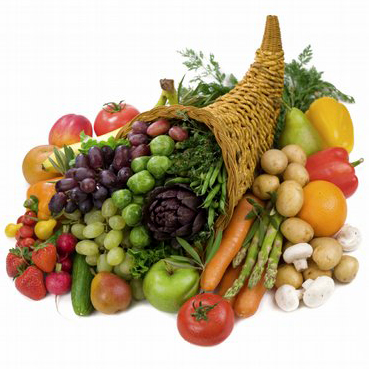 Photo: Horn of Plenty with Fruits and Vegetables