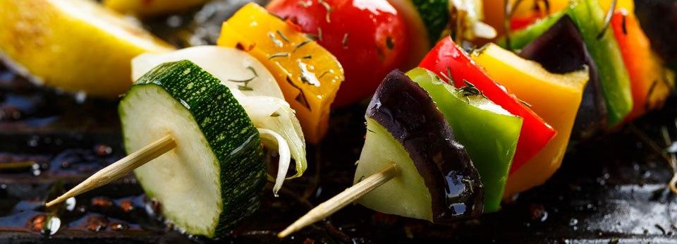 Photo: Grilled Veggie Skewers