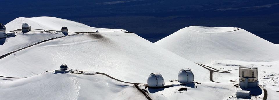 Photo: Winter atop Mauna Kea